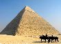 Four horsemen gaze on Khafre's Pyramid