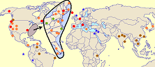 thumbnail of world map with locations visited