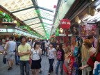 The shopping arcade from river to Asakusa temples