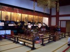Interior of one of the temples at Asakusa