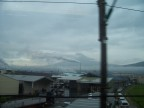 Unexpectedly, the clouds parted to give us one last peak at Fuji from the train
