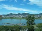The lake at Inuyama, lunch time