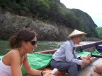 Mike-san, our 72 year-old guide for Inuyama as we boat down the white water leading to the lake