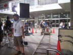 Making a movie at Hiroshima station