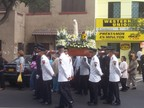 School parade for its saint's day, Lima