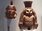 The Inca and a spirit, done in pots, Larco Museum, Lima