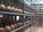 One small corner of three rooms storing old pots. Larco Museum, Lima