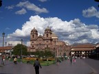 Jesuit Church in Cusco central square