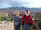 We were there - the Temple of the Sun's porch, overlooking downtown Cusco