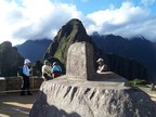 """Hitching post"", where the priests tied the sun to reverse its course in the heavens; Observatory mound, Machu Picchu"