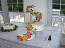 Tiered calories and drumset for the drummer groom