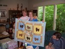 Susan made a quilt for the happy occasion
