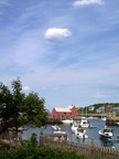 Even a cloud poses with Motif #1 in Rockport, MA
