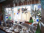 Inside the Pewter Shop in the Bearskin Neck shopping street of Rockport