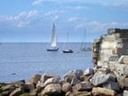Pleasure sailing is popular in Rockport