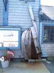 Parts of old vessel recycled in Bearskin Neck, Rockport MA