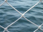 Netting to keep the passengers from slip overboard