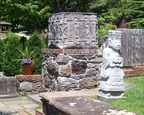 The garden features foreign influences, here oriental