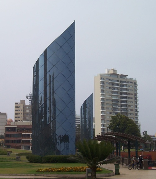 Park above Larcomar Mall, Miraflores, Lima
