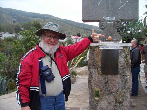 I balanced an egg on its short end on the equator at the Inti-Nan museum, near Quito