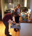 Joann helps Tanya prepare our Mexican feast