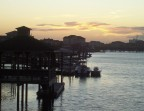 Moorings share the quiet sound behind Wrightsville Beach