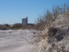 Erosion has nearly undermined this hotel on Wrightsville Beach