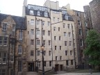 In a square surrounded by buildings in old town, Edinburgh
