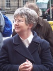 Sue Caseley, our guide through Edinburgh