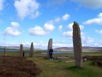 Ring of Brodgar. Sixty standing stones. Orkney Islands.