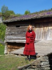 Our striking guide at Trondelag Folk Museum, a bevy of buildings relocated from all over