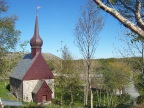 Peter Daas's church; notice the huge parking lot in this remote corner of Norway