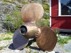 Stranded ship's propeller at the Sund museum/tourist trap