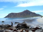 View across the beach at Flakstad�ya