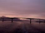 A bridge in the sunset welcomes us to Troms�