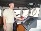 Captain Boczek takes his turn at the helm