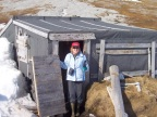 S checking out the hut abandoned by Odd-Ivar Ruud several years ago