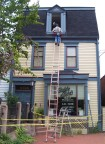 Replacing a high window (Point Breeze, Pittsburgh)