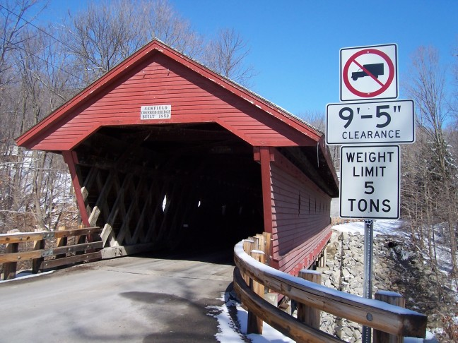 The only remaining covered bridge in Tompkins county
