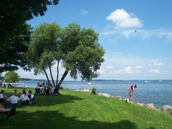 Simcoe Lake from Barrie Ontario