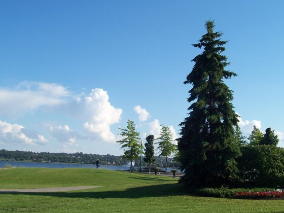 Simcoe Lake from Heritage Park, Barrie, Ontario