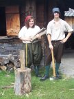 Demonstrating colonial life at Sainte-Marie Among the Hurons