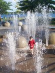 Strolling in the fountain, Heritage Park, Barrie, Ontario