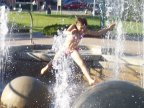 Leaping in the fountain, Heritage Park, Barrie, Ontario