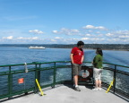 Ignoring the view from the Edmonds/Kingston Ferry