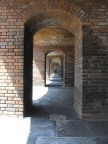 Corridor linking the cannon bays at Fort Jefferson, Dry Tortugas
