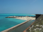 The moat and back beach at Fort Jefferson, Dry Tortuggas