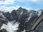 From our helicopter in Glacier National Park