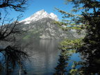 A Grand Teton Mountain over Jenny Lake, Wyoming