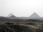 "The ""bent"" pyramid, as seen from Saqqara"